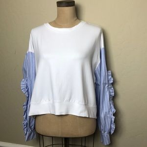 Zara striped sleeve top